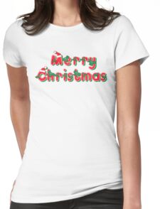 Merry Christmas Christmas T-Shirt Womens Fitted T-Shirt
