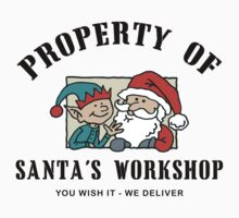 Property Santa's Workshop Christmas T-Shirt T-Shirt
