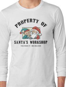 Property Santa's Workshop Christmas T-Shirt Long Sleeve T-Shirt