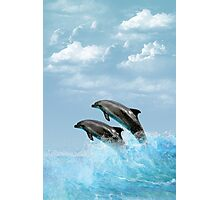 Leaping Dolphins Photographic Print