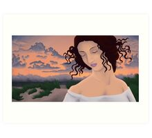 Leda at the Beach Art Print