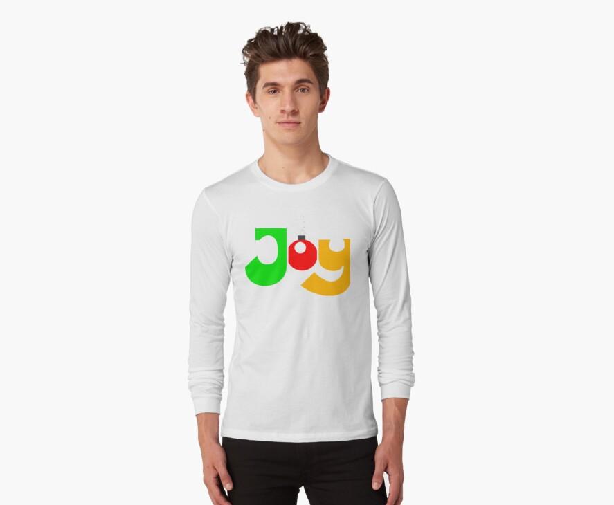 "Christmas T-Shirt ""JOY""  by HolidayT-Shirts"