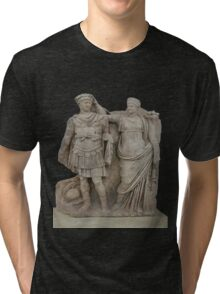 Nero and His Mother, Agrippina Tri-blend T-Shirt