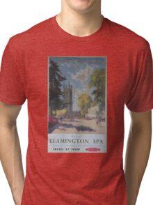 ROYAL LEAMINGTON SPA ~ TRAVEL BY TRAIN Tri-blend T-Shirt