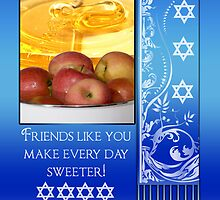 Friend, Rosh Hashanah Jewish New Year - L'Shana Tova by Moonlake