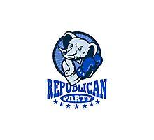 Republican Elephant Mascot Boxer Photographic Print