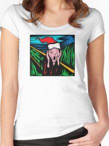 """Scream"" Christmas T-Shirt Women's Fitted Scoop T-Shirt"