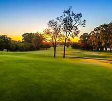 Sunset Golf by Russell Charters
