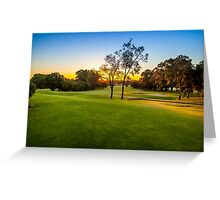 Sunset Golf Greeting Card