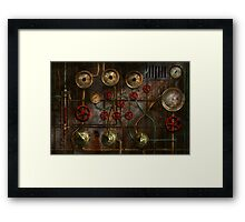 Steampunk - Job jitters Framed Print