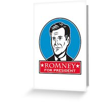 Mitt Romney For American President Greeting Card
