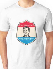 Mitt Romney For American President Shield Unisex T-Shirt