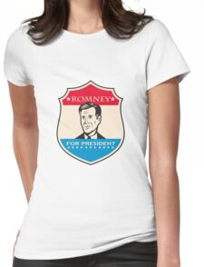 Mitt Romney For American President Shield Womens Fitted T-Shirt