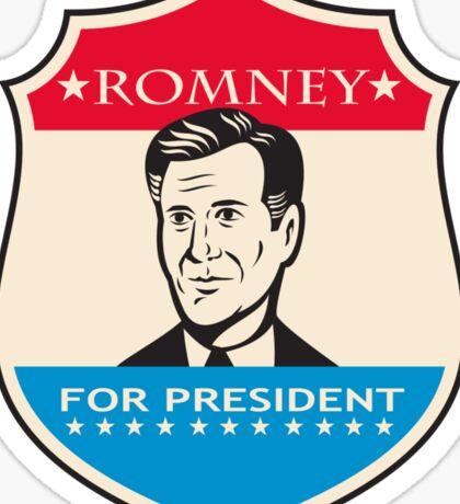 Mitt Romney For American President Shield Sticker