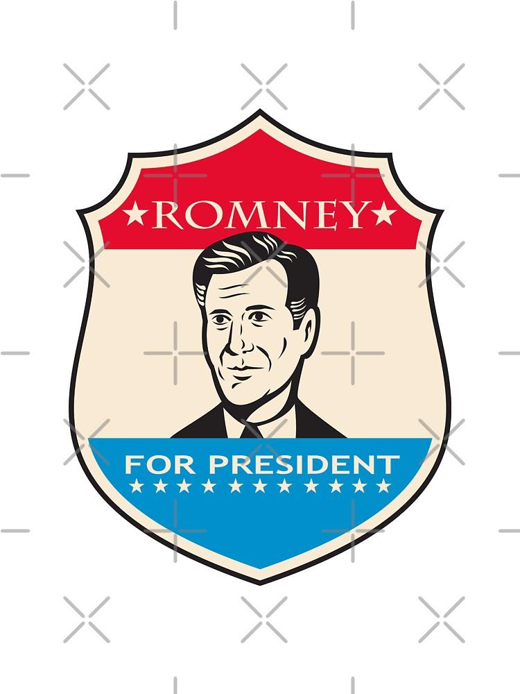 Mitt Romney For American President Shield by patrimonio