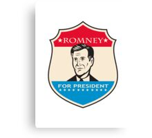 Mitt Romney For American President Shield Canvas Print