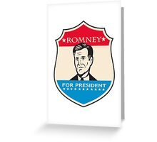 Mitt Romney For American President Shield Greeting Card