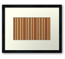 Doctor Who - Fourth Doctor's scarf pattern Framed Print
