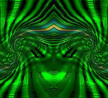 An Abstract Whirls in Green design by Dennis Melling