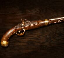 Gun - US Pistol Model 1842 by Mike  Savad