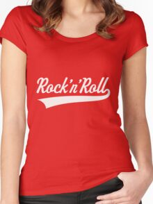 Rock 'n' Roll (White) Women's Fitted Scoop T-Shirt
