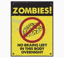 ZOMBIE WARNING SIGN !!! Kids Clothes