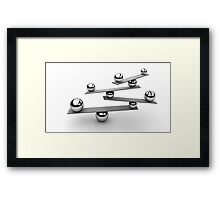 Keep balance  Framed Print