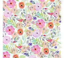 Pretty watercolor hand paint abstract floral Photographic Print