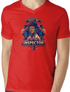 Trust The Inspector Mens V-Neck T-Shirt