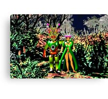 The Local Population is Very friendly on Exoplanet Ykculiain in the Galaxy of Zirene Canvas Print