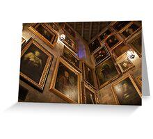 Hogwarts Castle: Wall of Talking Portraits Greeting Card