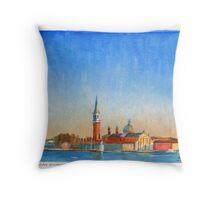 Isola di San Giorgio, Venice, Italy Throw Pillow