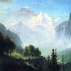 Bierstadt  Albert  Staubbach Falls Near Lauterbrunnen  by naturematters