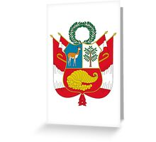 Greater Coat of Arms of Peru Greeting Card