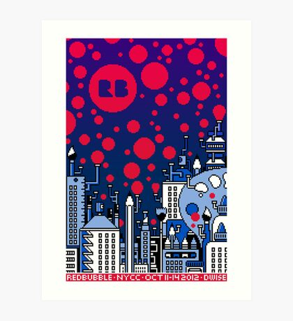 REDBUBBLE CITY! Art Print