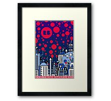REDBUBBLE CITY! Framed Print
