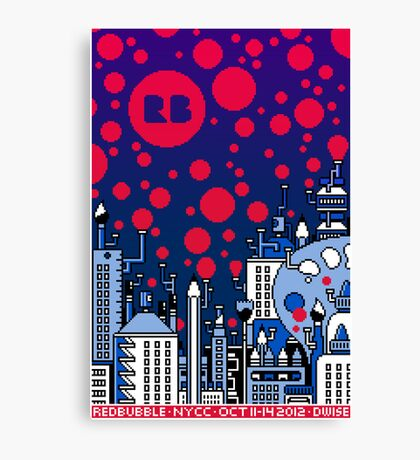 REDBUBBLE CITY! Canvas Print