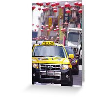 Taxi.......!!!!!!!!!!!!! Greeting Card