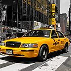 Yellow Cab at the Time Square by hannes cmarits