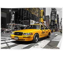 Yellow Cab at the Time Square Poster