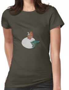 Turkey or the Egg Womens Fitted T-Shirt