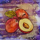 Three Plums by Alexandra Felgate