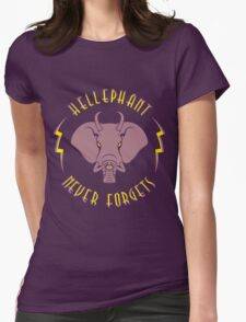 Hellephant - Gritty In Pink on Purple T-Shirt
