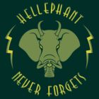Hellephant - Maulive Green on Dark Green by Koobooki