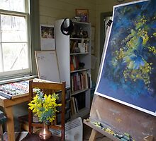 Work in Progress (A Burst of Spring) by Lynda Robinson