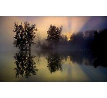 Foggy Sunrise Photographic Print