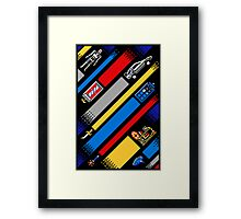 TIME LINES Framed Print