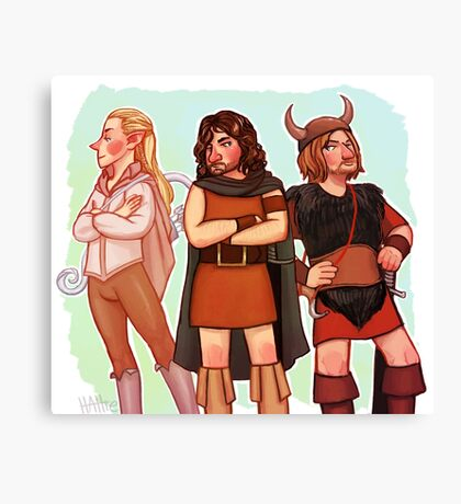 The Fellowship of 70s Fantasy Fashion Canvas Print