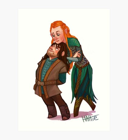The Dwarf Prince and the Elf Captain Art Print