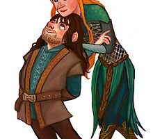 Kili and Tauriel by HattieHedgehog